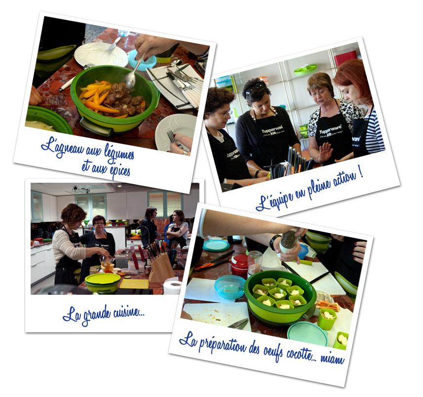 Un atelier chez tupperware recette de cuisine mademoiselle cuisine recettes astuces actu - Cuisiner avec tupperware ...