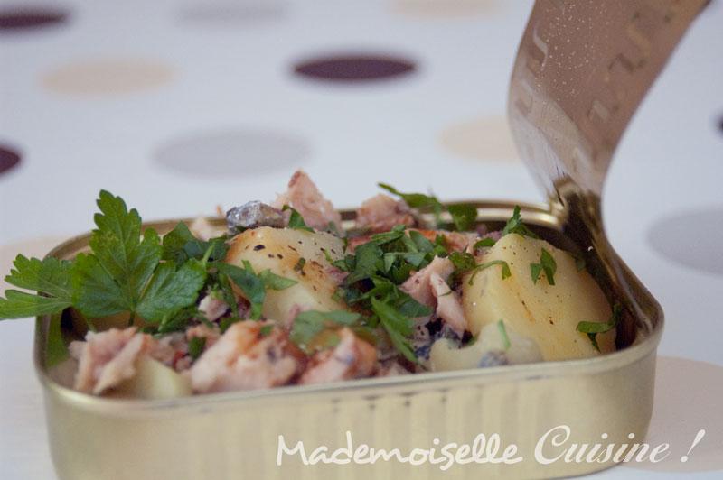 salade pomme de terre sardine recette de cuisine mademoiselle cuisine recettes astuces. Black Bedroom Furniture Sets. Home Design Ideas