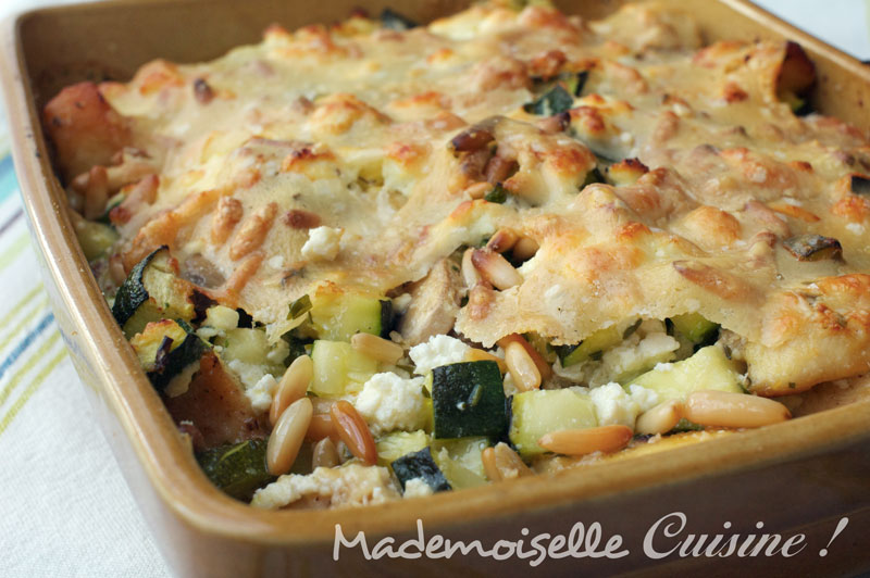 gratin de poulet et courgettes la brousse et l 39 estragon recette de cuisine mademoiselle. Black Bedroom Furniture Sets. Home Design Ideas