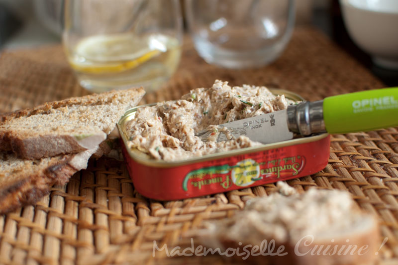 Rillettes de sardines - Recette de Cuisine ~ Mademoiselle Cuisine ...