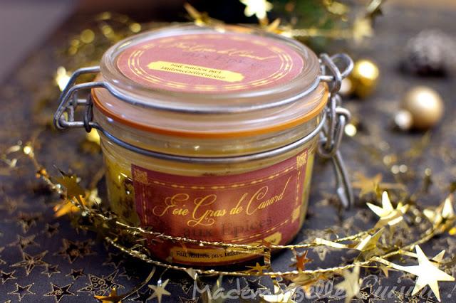 foie gras aux pices en conserve cadeaux gourmands recette de cuisine mademoiselle cuisine. Black Bedroom Furniture Sets. Home Design Ideas