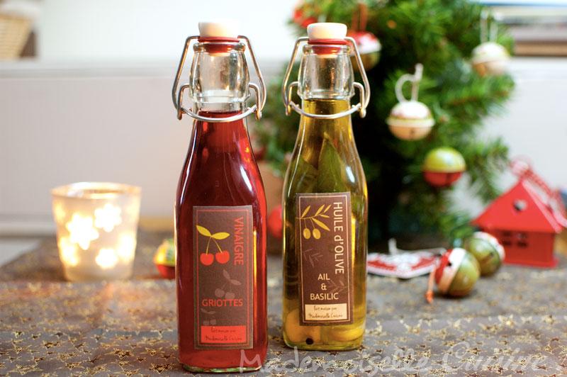 Huile et vinaigre parfum s maison cadeaux gourmands for Cadeau de noel maison